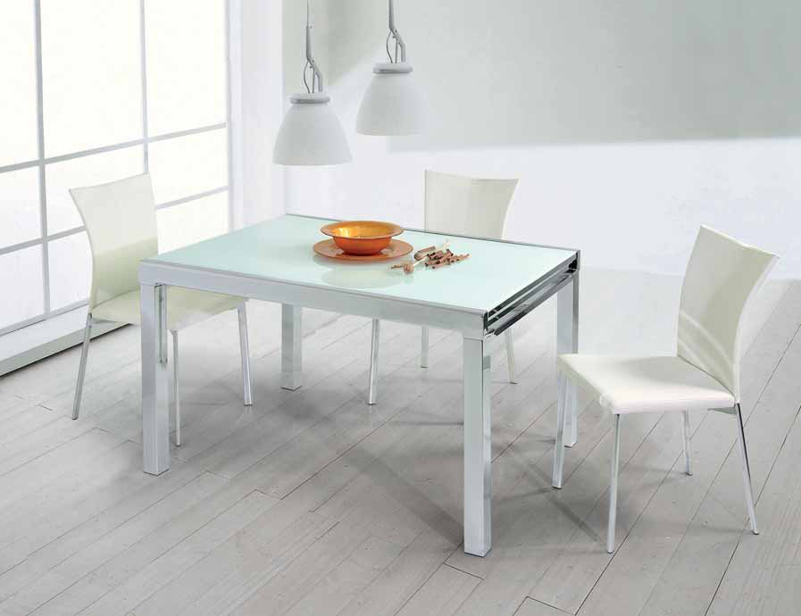 Tavoli da cucina in vetro bianco decora la tua vita - Tavoli da cucina rotondi allungabili ...